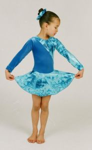 Long Sleeve Ice Skating Dress in Velour by Jenetex