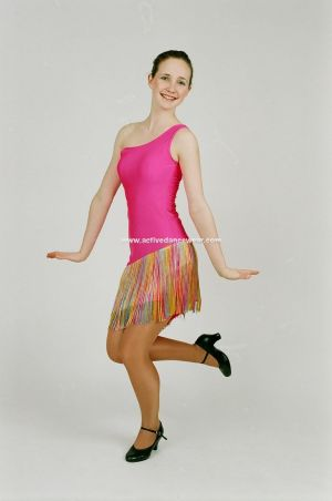 Nylon Lycra Party Show Theatrical Dance Dress