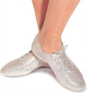 Roch Valley AJSH Silver Hologram Jazz Shoes