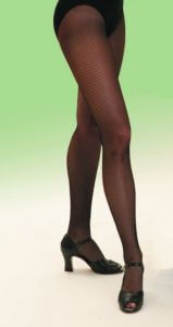 Capezio 3400 Professional Black Seamed Fishnet Tights