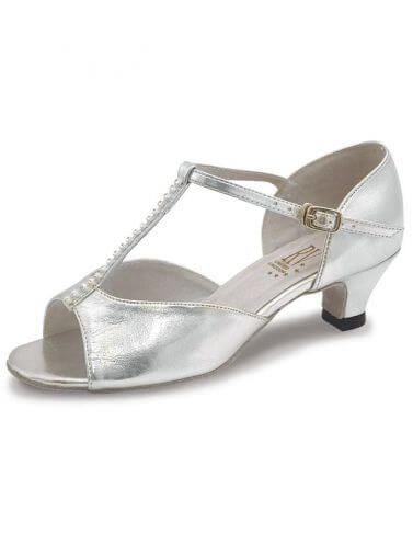 Roch Valley Lara Silver T-Bar Ballroom Shoes