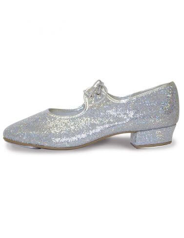 Roch Valley  LHPH Silver Hologram Low Heel Tap Shoes
