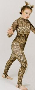 Long Sleeve Turtleneck Stirrup Cougar Catsuit / Jazzsuit