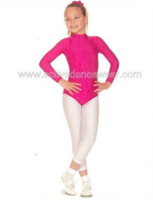 Nylon Lycra Long Sleeved Turtleneck Leotard