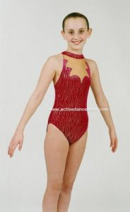 Gail Gymnastics / Dance Sleeveless Hologram Leotard