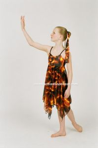 Lyrical Dance Dress Ballet Handkerchief