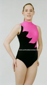 Sleeveless Velour / Hologram Gymnastics Leotard