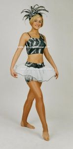 Disco Freestyle Rose Crop Top Tutu Skirt and Hotpants Outfit
