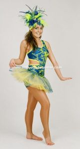 Disco Freestyle Diva Hotpant Dance Unitard Tutu Skirt Set