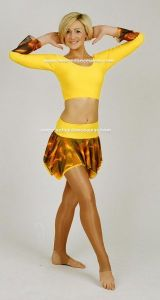 Freestyle Flared Sleeve Top and Handkerchief Skirt with Knickers