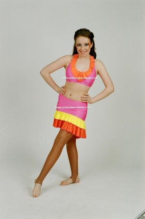 Nylon Lycra Crop Top and Skirt