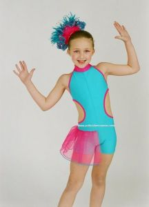 Freestyle Disco Competition Bethany Half Tutu Dance Unitard