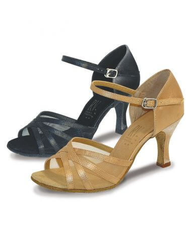Ladies Flared Heel Latin Ballroom Shoes