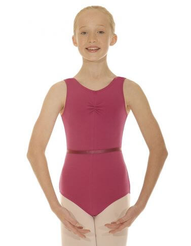 Roch Valley CSHEREE Cotton Sleeveless Ruched Leotard