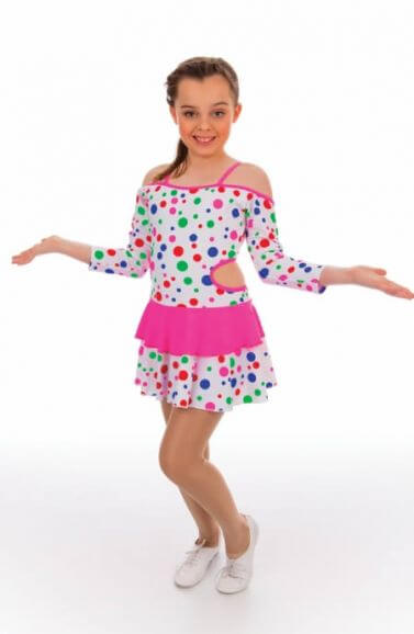 Polka Dot Rock and Roll Dance Dress