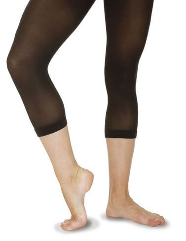 Black Calf Length Ballet Tights