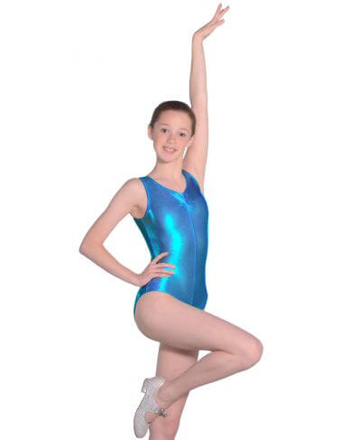 Roch Valley Shiny Metallic Sleeveless Leotard