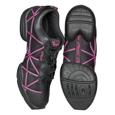 Capezio DS19 Web Sneakers Black and Hot Pink