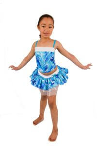 Blue Disco Camisole Top and Tutu Skirt