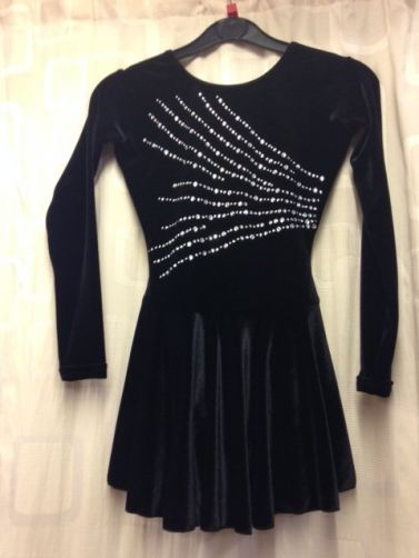 Manhattan Smooth Velour Long Sleeved Ice Skating Dress