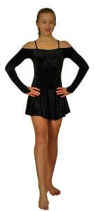 Irish River Dance Show Dress in Black