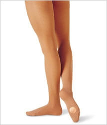 Capezio 1816 Transition Convertible Dance Tights - Suntan
