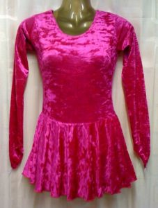 Irish River Dance Dress Round Neck in Cerise