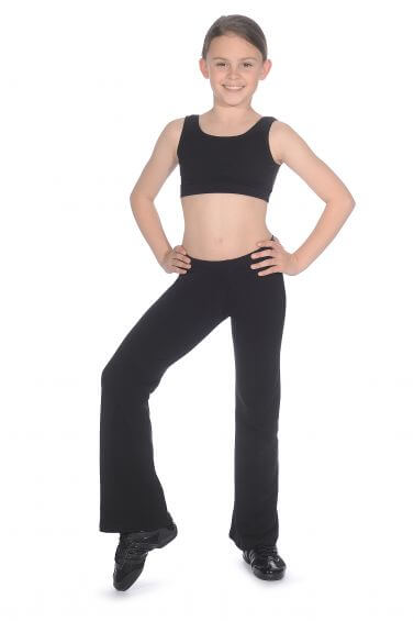 Black Jazz Pants Cotton Bootleg - Roch Valley CTJAZZ