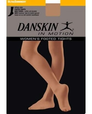 Danskin Toast Shimmer Footed Dance Tights - Style 1331
