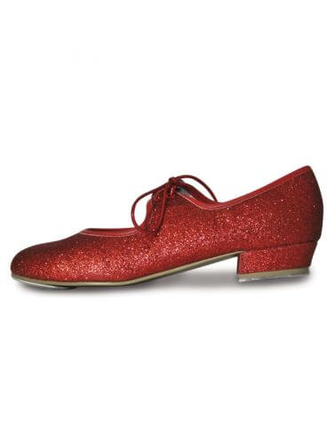 Roch Valley Dorothy Red Glitter Low Heel Tap Shoes