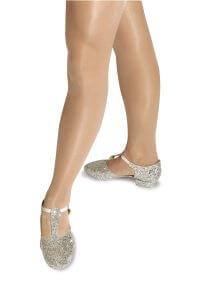 Silver Glitter Greek Sandals Teaching Shoes
