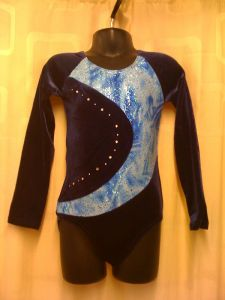 Long Sleeve Gymnastics Leotard by Jenetex - Kitty