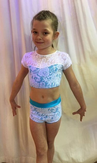 Maddie Lace Two Piece Freestyle outfit