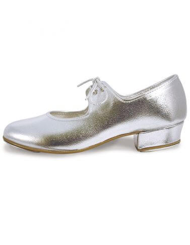 Roch Valley LHPS Silver Low Heel Tap Shoes