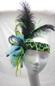 Green Hunter Fascinator Dance Competition Headdress