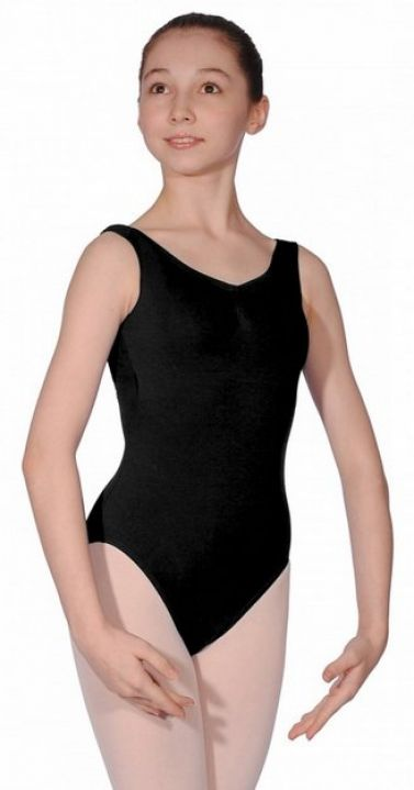 Roch Valley NATASHA Sleeveless Cotton Ruched Leotard