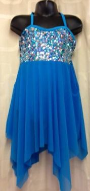 Contemporary Turquoise Sequin Lyrical Slow Dance Dress