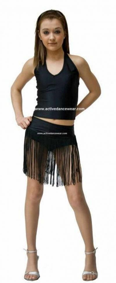 T-Bar Halter Neck Top and Fringed Dance Pants